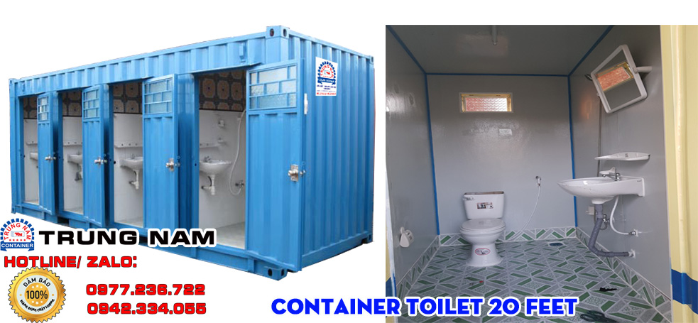cho thuê container 20 feet toilet