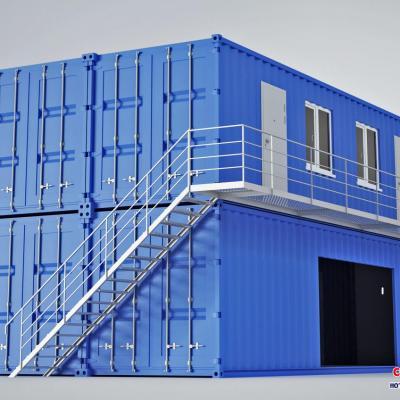 Khối nhà ghép container từ 04 container 40 feet